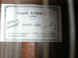 Audirac grand concert 1998